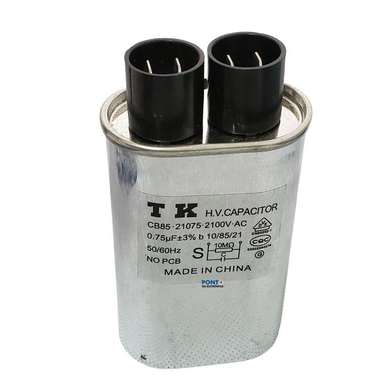 Capacitor Para Micro-Ondas 0.75uF x 2100Vac 50/60Hz CB85 TK