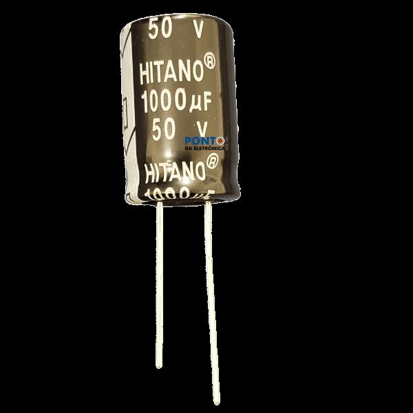Capacitor Eletrolítico 1000uF x 50V RD 105º Hitano Kit 5pçs
