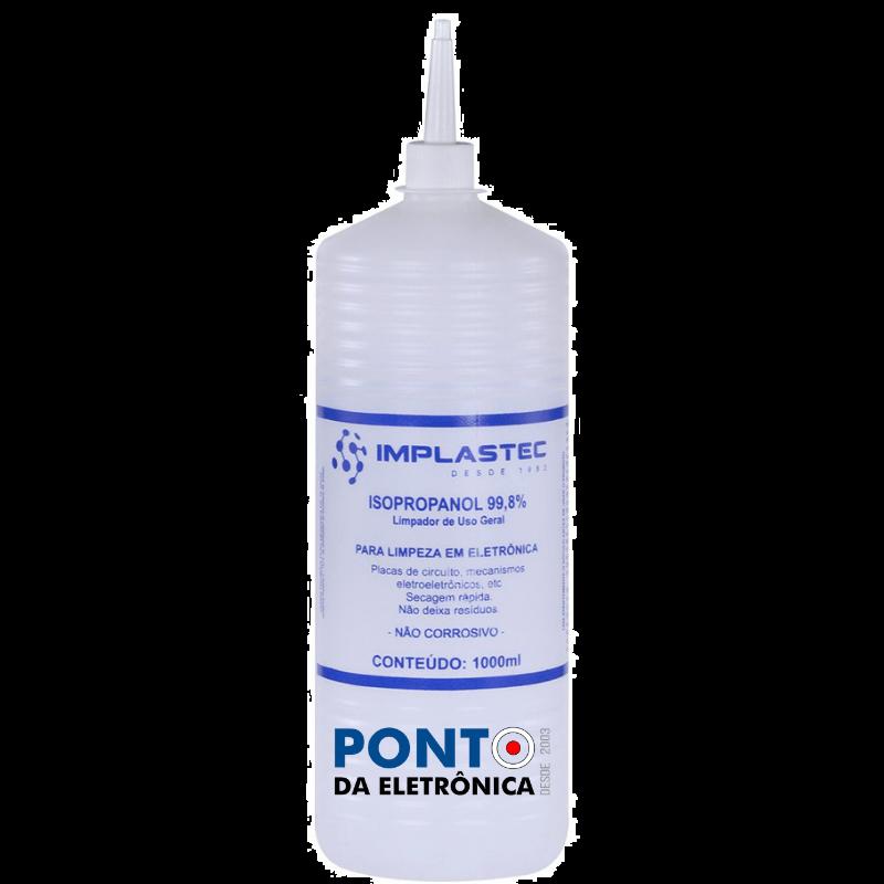 Alcool Isopropílico 1 Litro 99,8% Implastec