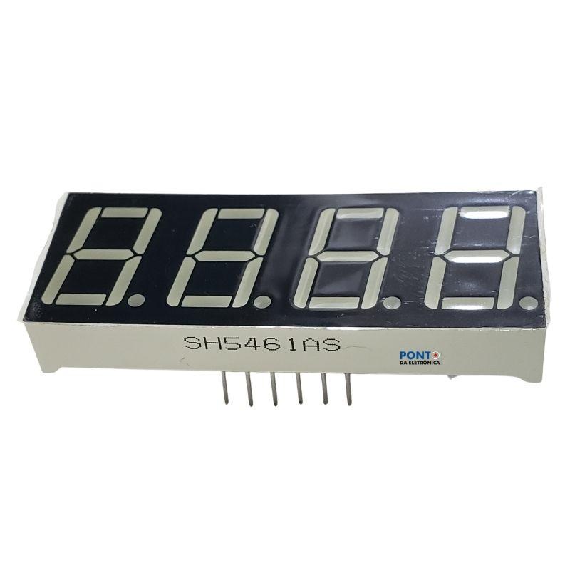 Display Catodo SH5461AS 4 Dígitos 7 Seguimentos