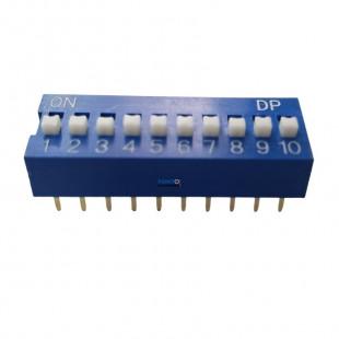 Chave Dip Switch KF1001 10 Contatos Azul 180º Kit 3pçs