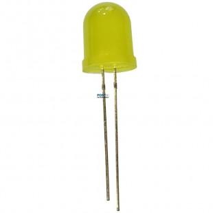 Led 10MM Amarelo Difuso Kit 20pçs