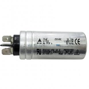 Capacitor Polipropileno 10uF x 250Vac 50/60Hz Alumínio Faston Epcos