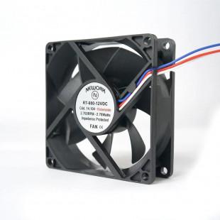 Cooler 80MM X 80MM X 25MM 12 Volts Com Rolamento 3 Fios RT-080 14.104