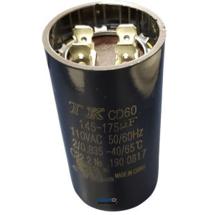 Capacitor de Partida 145-175uF x 110Vac 50/60Hz CD60 TK