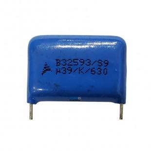Capacitor Poliéster 390K x 630V = u39/K/630 Epcos