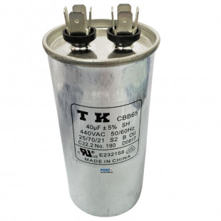 Capacitor Polipropileno 40uF x 440Vac 50/60Hz CBB65 TK