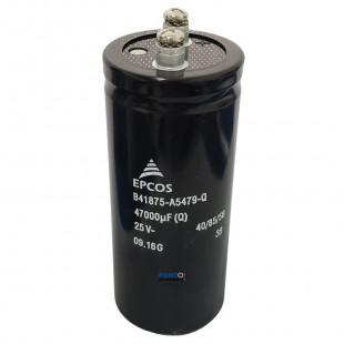 Capacitor Eletrolitico 47000uF x 25V RD 85º Giga Epcos