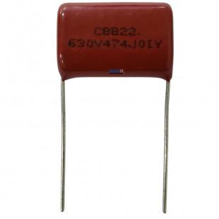 Capacitor Poliéster 470K x 630V = CBB22 630V474J