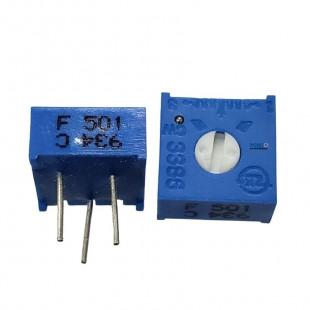 Trimpot 500R 3386F 1 Volta 3386F-1-501 Kit 10pçs