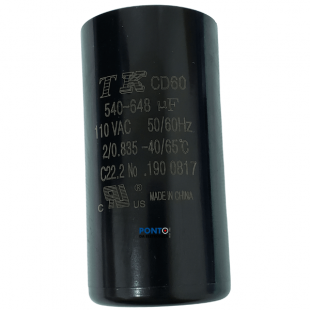 Capacitor de partida 540-648uF x 110V 50/60Hz CD60 TK