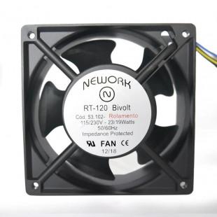 Cooler 12X12X38MM BIV 110/220V Com Rolamento 4 Fios RT-120 53.102