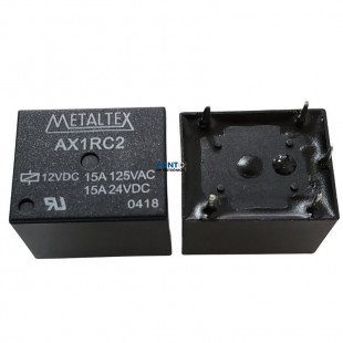 Rele AX1RC2 12VDC 15A 5 Terminais Metaltex Kit 4pçs