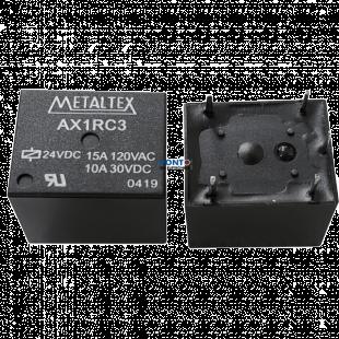 AX1RC3 Rele 24V 15A Metaltex Kit 3pçs