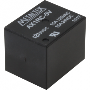 Rele AX1RC-5 5VCC 15A Metaltex Kit 4pçs
