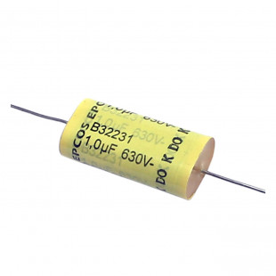 Capacitor Poliéster 1M X 630V Axial B32231 Epcos Kit 10pçs