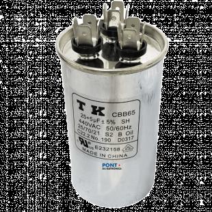 Capacitor Polipropileno Duplo 25+5uF X 440Vac 50/60HZ CBB65 TK