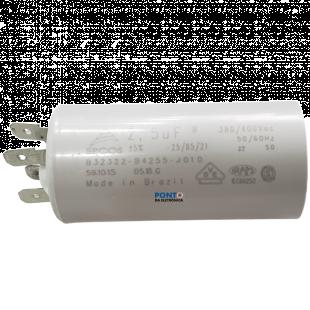 Capacitor Polipropileno 2,5uF X 380/400Vac 50/60Hz Plástico Faston Epcos