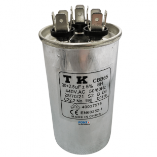 30+2.5uF X 440V 50/60HZ Capacitor Polipropileno CBB65