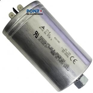 Capacitor Polipropileno 60UF X 450V 50/60HZ Alumínio Com Parafuso de Fixação Epcos