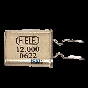 Cristal 12.000Mhz HC49U Kit 20pçs