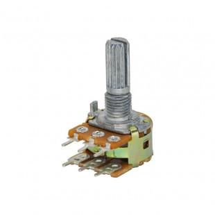 Potenciômetro 20K B WH148-2-L20 Duplo 6 Terminais Kit 5pçs
