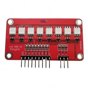 Módulo 8 Leds RGB V2 Keyes 5050 K845041