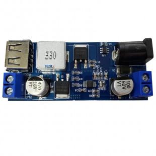 Fonte Saída USB 5V Tensão Variável 9 a 24V Para Placa Solar 10W