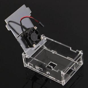 Case Acrílico Para RaspBerry Pi3 Com Cooler
