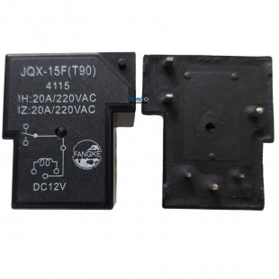 Rele JQX-15F (T90) 12V 20A 6 Terminais = HP2150-12